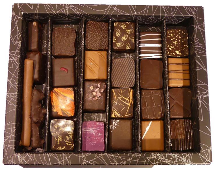 Coffret 25 chocolats par Bruno Guerpillon